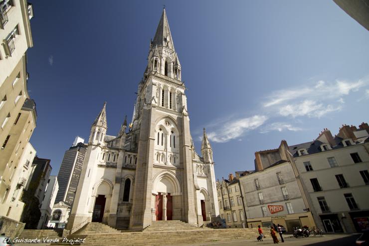 Iglesia de San Nicolas, barrio Feydeau - Nantes, por El Guisante Verde Project