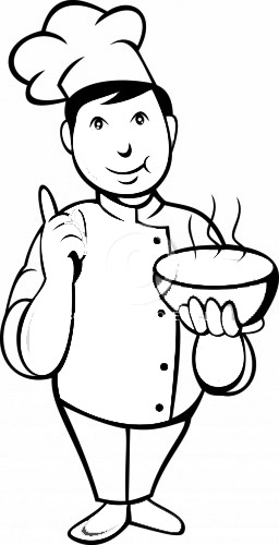 Little Chefs Coloring Pages To Kids