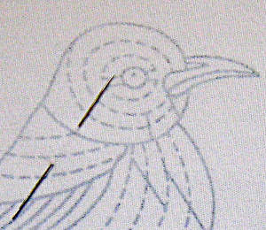 Robin on Blossom Branch (by Tanja Berlin): Shading guidelines
