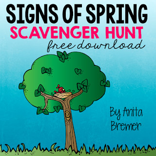FREE Signs of Spring scavenger hunt- take learning outside!