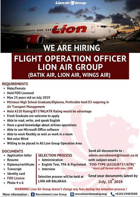 Lowongan Kerja Lion Air Group Mei 2019