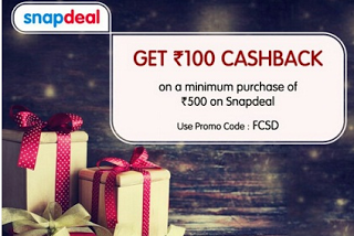 Snapdeal Rs 100 cashback