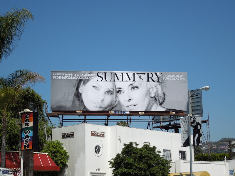 Summary magazine billboard