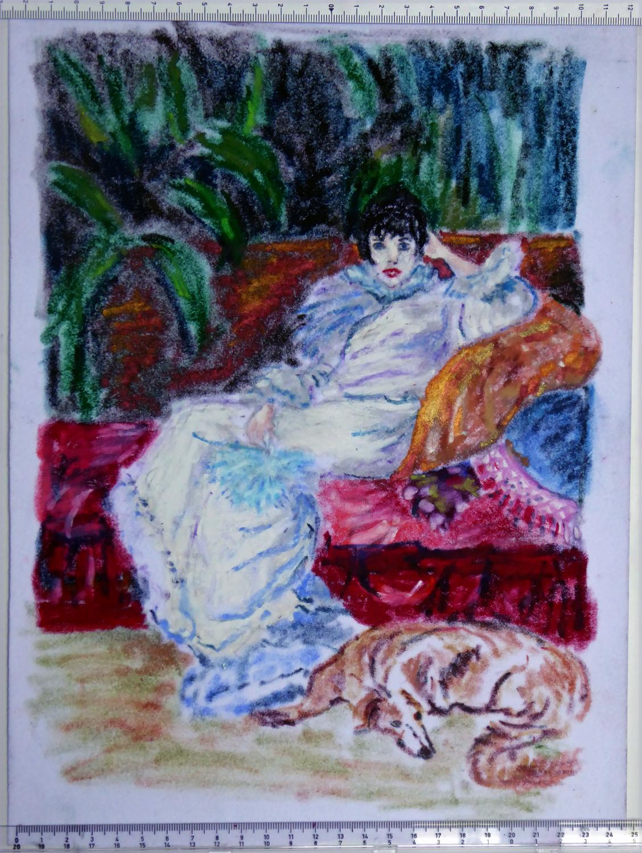 Art de vivre la peinture de peintrefiguratif croquis au petit palais pastel gras de sarah for Peinture pastel gras