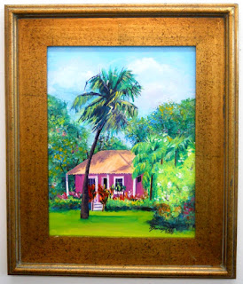 Little Pink Cottage Original Acrylic Painting