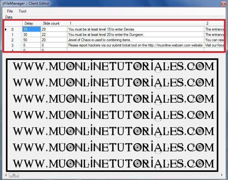 Editando el archivo slide_eng del cliente