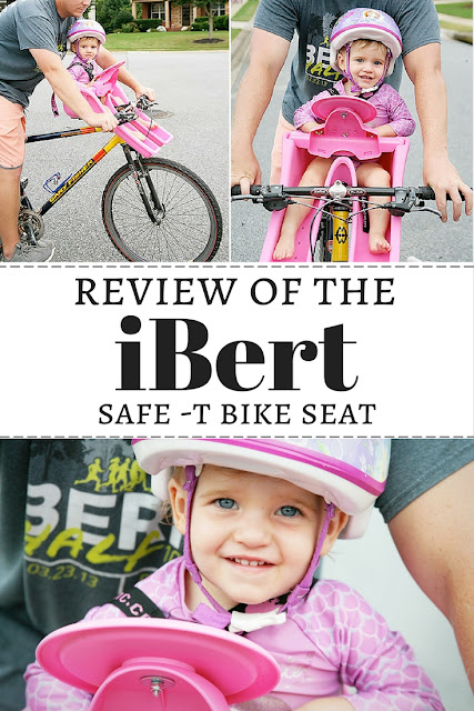 A review of the iBert Safe T Seat for bikes. A great way to ride bikes with your tiny toddlers.