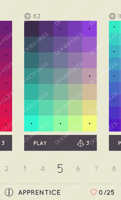 I Love Hue Apprentice Level 5 Solution, Cheats, Walkthrough