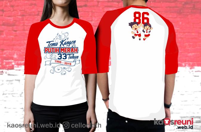 Kaos Reuni Temu Kangen Putih Merah Angkatan 86 - Kaos Reuni