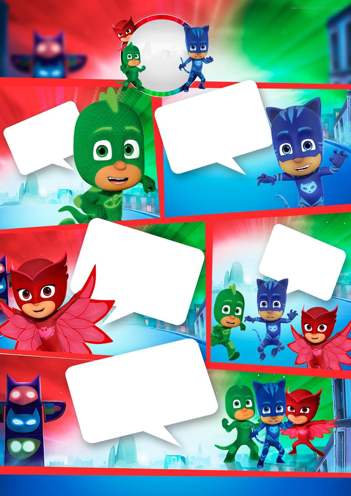 Super Héroes En Pijamas Invitaciones Para Imprimir Gratis
