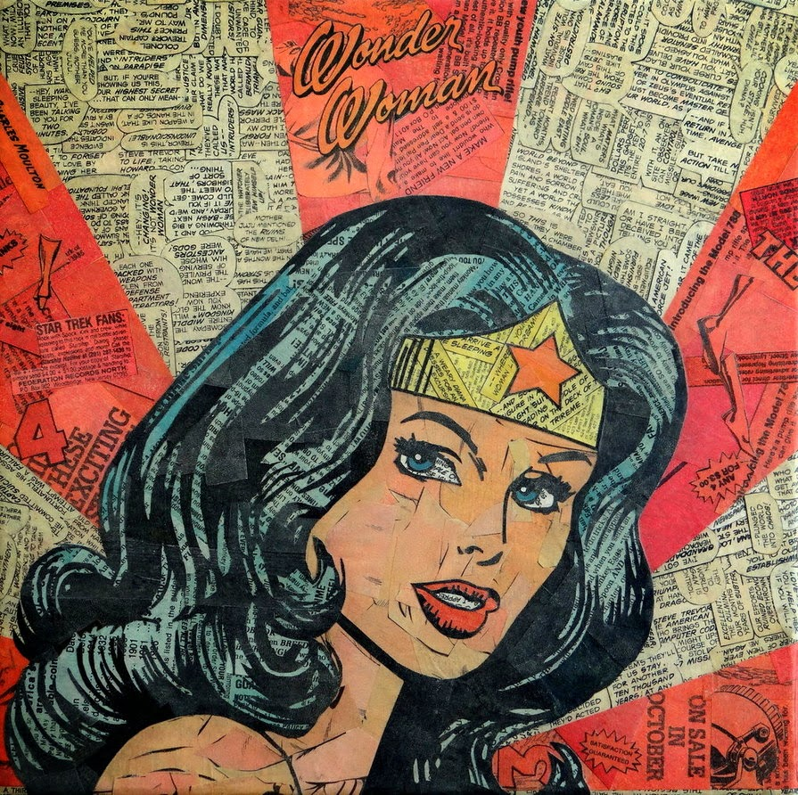 21-Wonder-Woman-Mike-Alcantara-Comic-Collage-Art-www-designstack-co
