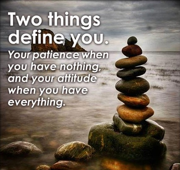 Inspirational Quotes Attitude Patience And Attitude Inspirational Quote   Inspirational Picture  Inspirational Quotes Attitude