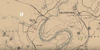 RDR 2, American Dreams, Third Murder Clue, Location map