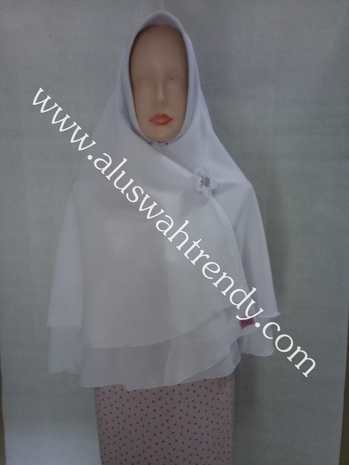 Jilbab Khimar Bolak-Balik Putih Tulang 27