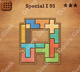 Cheats, Solutions, Walkthrough for Wood Block Puzzle Special I Level 95