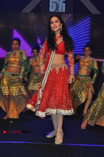 Bollywood Actress Model Sunny Leone Dance Performance in Red Half Saree at Rogue Audio Launch 13 March 2017  0068.jpg