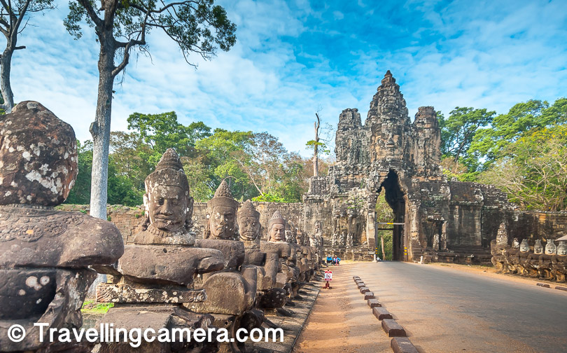 We have already talked about how little people who haven't visited Angkor actually know about Angkor. At least I had a very limited idea of the place. I had seen pictures, read some blogs, but I visualized Angkor as one single temple, which in my imagination was a hybrid of Angkor Wat, Bayon, and Ta Prohm. I wasn't aware that all these are three completely different temples, and was completely oblivious of the fact that there are countless other temples and dramatic structures besides these three.