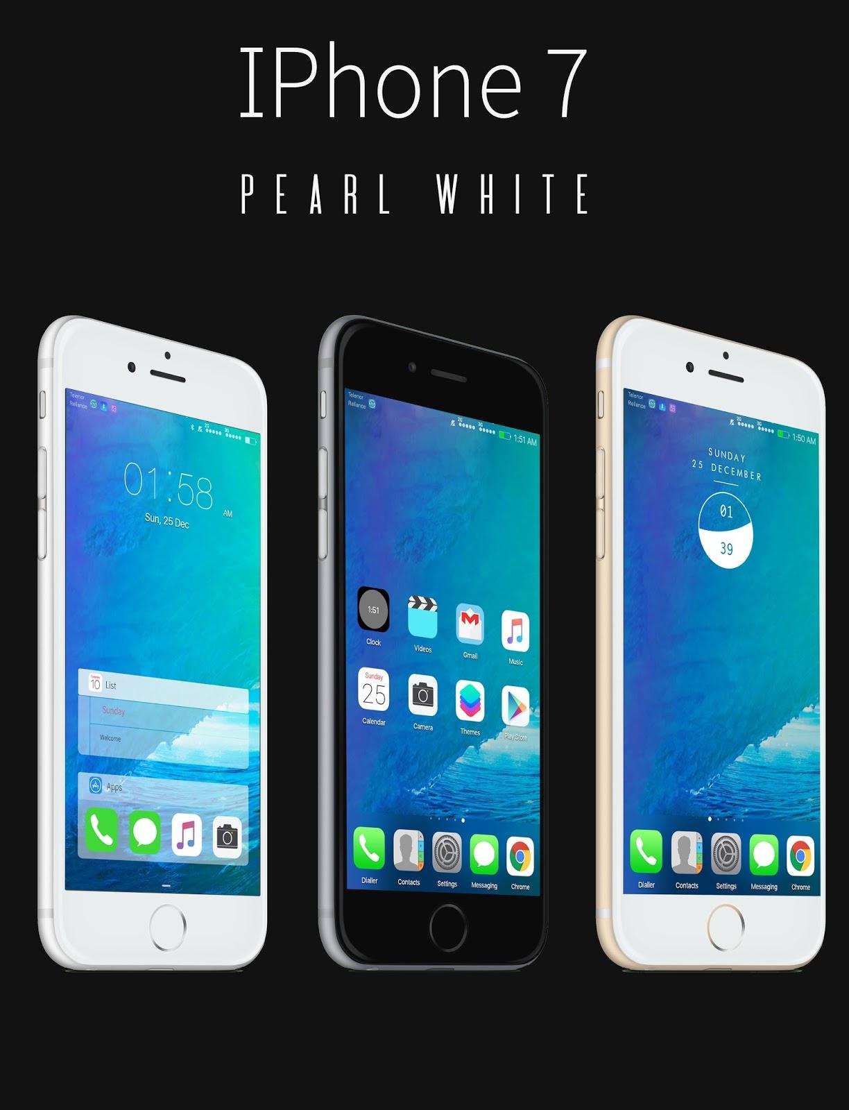 IOS 10 Pearl White - Emui Themes