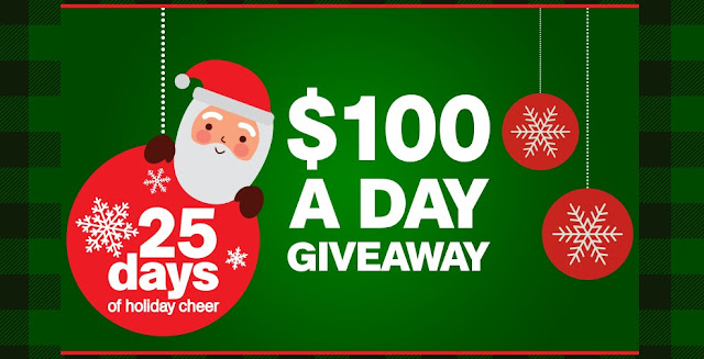 25 Days of Holiday Cheer $100 Giveaway