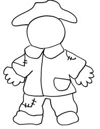 Coloring Pages: Fall Scarecrow Coloring Page