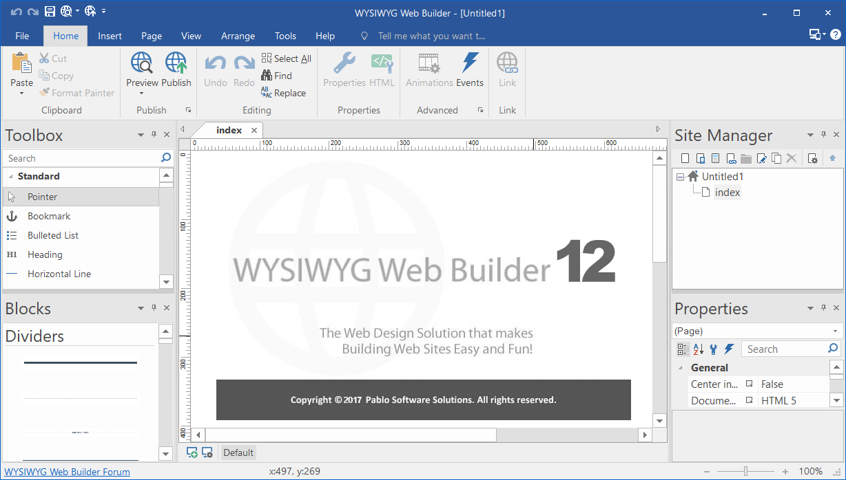WYSIWYG Web Builder 12.0.5 full Keygen + Portable + Extensiones