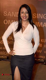Kashmira Shah in Leg Split Transparent Short Mini Skirt Tight White Top at Sarbjit Hindi Screening