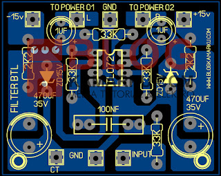 cara membuat PCB filter BTL Audio