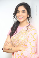 Actress Ritu Varma Pos in Beautiful Pink Anarkali Dress at at Keshava Movie Interview .COM 0370.JPG