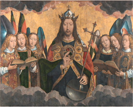 Parte central del tríptico 'Retablo de Santa María la Real de Nájera' - Hans Memling