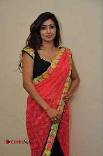 Actress Vaibhavi Joshi Pictures in Red Saree at Guntur Talkies 2 Movie Opening  0036.JPG