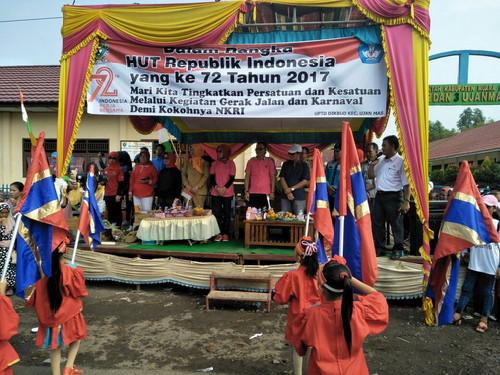 Ratusan Warga Desa Ujan Mas Ikut Nyaksikan HUT RI Yang Ke-72