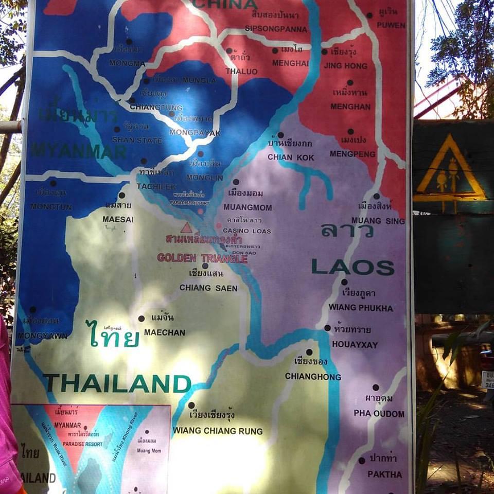 Laos Fronteira Tailândia, Laos e Myanmar