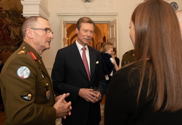 Grand Duke Henri and Grand Duchess Maria Teresa held a reception for the personnel of Luxembourg's Army and Grand Ducal Police