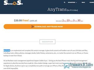 giveaway : Anytrans gratuit (pendant 3 jours) !