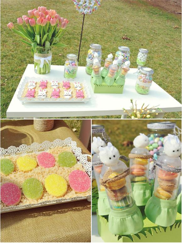 A Sweet Family Brunch Easter Egg Hunt Party - via BirdsParty.com