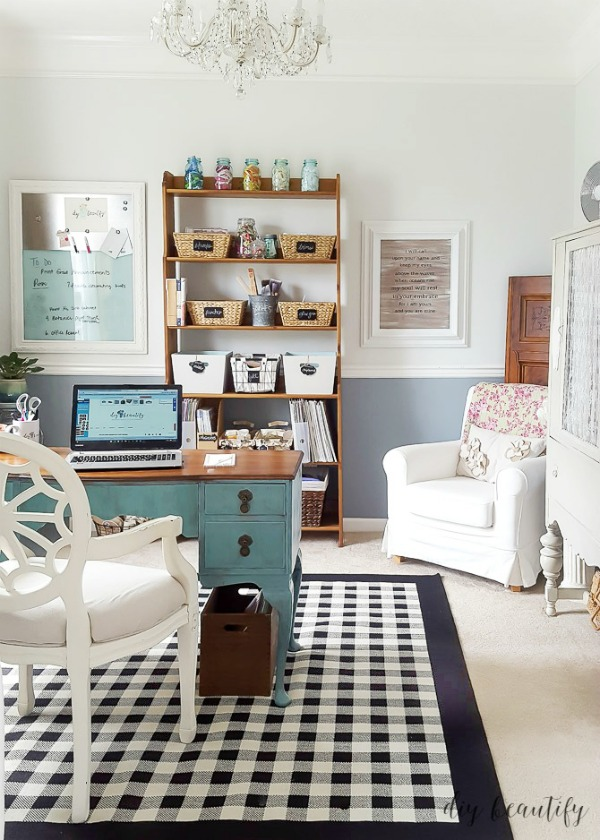 turn an unused dining room into a home office and space for crafting
