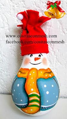 adornos-navideños-focos-reciclados
