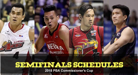 LIST: Game Schedules Semifinals 2018 PBA Commissioner's Cup