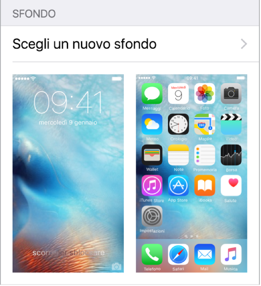 home screen iphone 6s come cambiare sfondo modificare impostare foto immagine