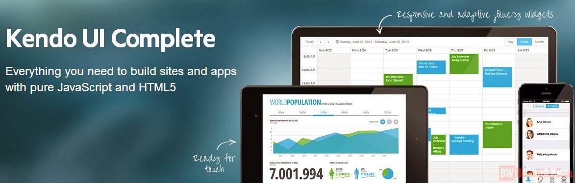 Kendo UI HTML5 Mobile App framework