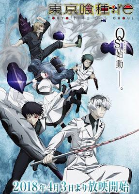 Tokyo Ghoul:re (东京食尸鬼:re), obra original de Sui Ishida, nos deja con una nueva imagen promocional protagonizada por el escuadrón Quinx.