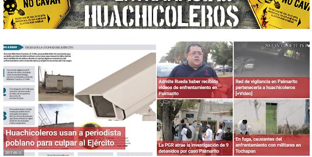 Huachicoleros usan a periodista tlacoyero para desprestigiar al ejército