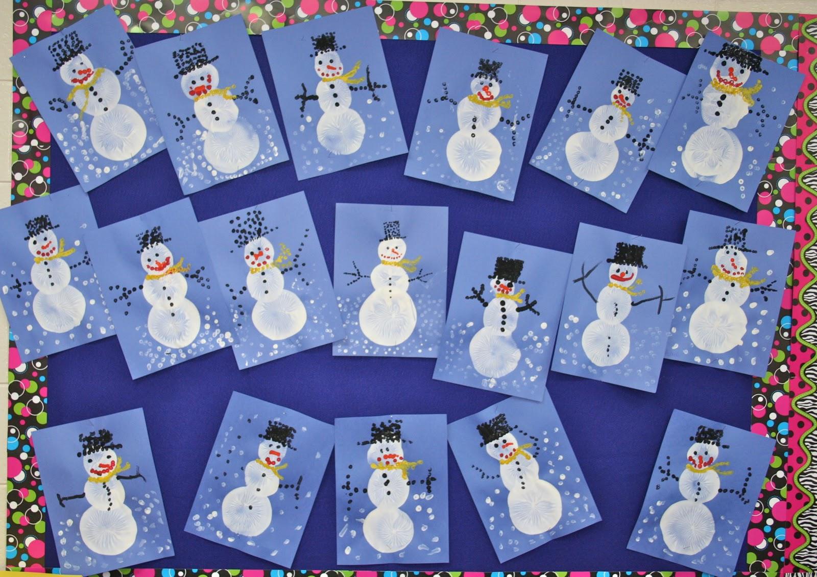 Mrs Lisa S Pre K Crew Rocks Snowmen Snowmen Everywhere