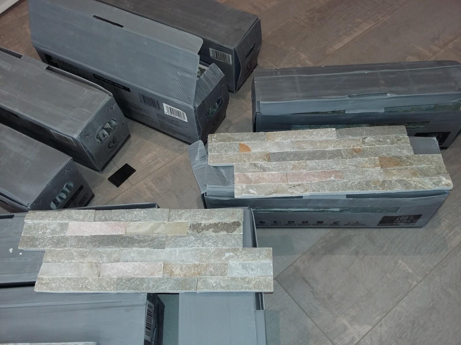 trendy pierre de parement pierre naturel beige design zen cachet double encollage intrieur with. Black Bedroom Furniture Sets. Home Design Ideas