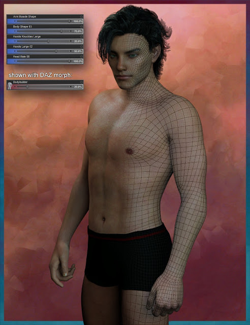 Genesis 3 Male Face  Body Morph Resource Kit