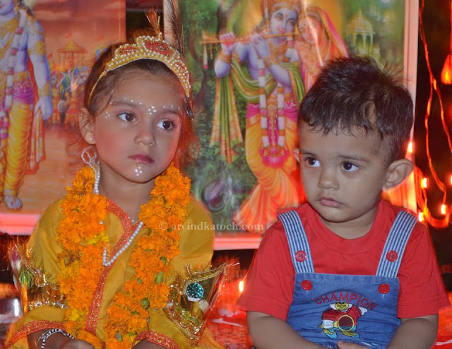 Janmashtami, Celebration, Kids, dresses, Krishna,