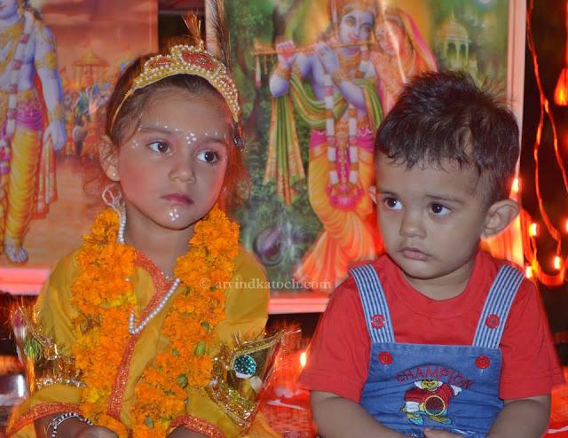 Janmashtami, Celebration, Kids, dresses, Krishna,