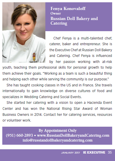Chef Fenya Konovaloff of Russian Doll Bakery and Catering