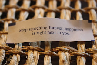 stop searching for happiness