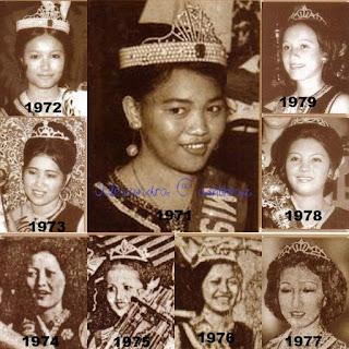 Pemenang Unduk Ngadau 1971 - 1979